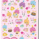 Mind Wave Retro Animals and Girl Sparkly Sticker Sheet