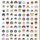 Mind Wave Happy Friends Mini Faces Sparkly Sticker Sheet