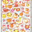 Crux Animal Sweets Cafe Puffy Glittery Sticker Sheet