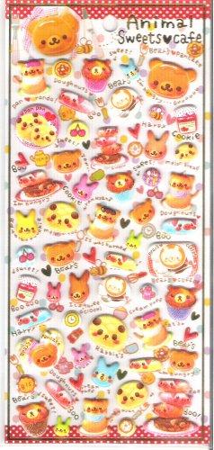Crux Animal Sweets Cafe Puffy Glittery Sticker Sheet