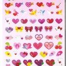 Kamio Hearts and Valentines Sparkly Sticker Sheet