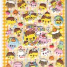 Kamio Smiling Pudding Friends Puffy Sticker Sheet