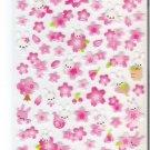 Kamio Pink Sakura Blossoms and Bunnies Sticker Sheet