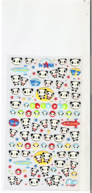 Kawaii Japanese De La Pan Panda Space Travel Sticker Sheet