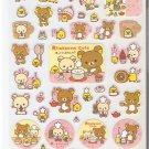 San-X Rilakkuma Bear Cafe and Friends Pink Sweets Sticker Sheet