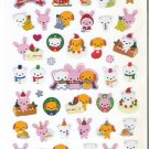 Crux Holiday Christmas Kawaii Animals Sparkly Sticker Sheet