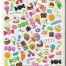 Kamio Colorful Sweets and Desserts Candy Pop Hard Epoxy Sticker Sheet