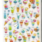 Kamio White Kuma and Tropical Drinks Candy Pop Hard Epoxy Sticker Sheet