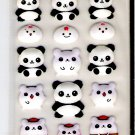 Lemon Co. Chinese Pandas and Hamsters Puffy Mini Sticker Sheet
