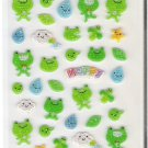 Korean Happy Frogs Sparkly Mini Sticker Sheet