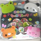 Kamio Kawaii Animals Frog, Panda, Bear, and Pig 3D Sticker Sack