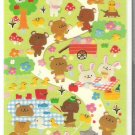 Kamio Bears and Rabbits Home Sticker Sheet