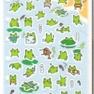 San-X Flat Paper Thin Frog Sticker Sheet