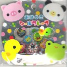 Kamio Pop 'n Friends Pig, Panda, and Frog 3D Sticker Sack