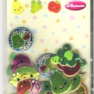 Crux Kawaii Fruits with Faces Metallic Puffy Sticker Sack
