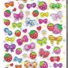 Q-Lia Strawberries, Bows, and Hearts Hard Epoxy Sticker Sheet