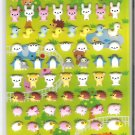 Crux Kawaii Animal World Puffy Sticker Sheet