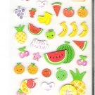 Korean Happy Fresh Fruits Mini Sticker Sheet