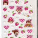 Korean Blue Sky Funny Story Pink Girl Mini Sticker Sheet