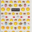 Kamio Cheerful Lion and Friends Sticker Sheet