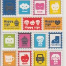 Mind Wave Colorful Happy Stamps Sticker Sheet