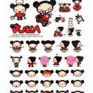 Vooz Pucca Cute Faces Sticker Sheet