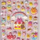 Kamio Bunny Desserts and Love Pink Puffy Sticker Sheet