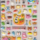 Kamio Bear Kuma Bento and Kawaii Foods Puffy Sticker Sheet