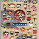 Kamio Panda Sushi Foods Puffy Sticker Sheet