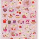 San-X Berry Puppy Berries Glittery Sticker Sheet