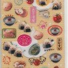 Q-Lia Onigiri, Rice with Ume, and Eggs Glittery Sticker Sheet