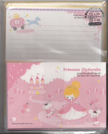 Kamio Japan Princess Cinderella Fairytale Letter Set