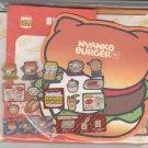 San-X Nyan Nyan Nyanko Burger Diecut Letter Set