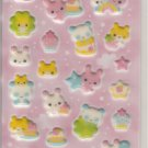 Kamio Bunnies and Pandas Puffy Sticker Sheet