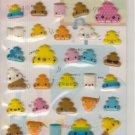 Kamio Colorful Unko Puffy Sticker Sheet