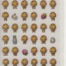 Preco Co. Cream Puff Letters and Friends Sticker Sheet