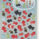 Mind Wave Black and Red Gloldfish Washi Sticker Sheet