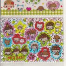 Kamio Mix and Clover Baby 3-Section Sticker Sheet