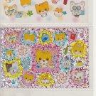 Kamio Nyanko School 3-Section Sticker Sheet