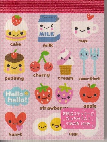 Q-Lia Tiny Cafe Pink #2 Mini Memo Pad