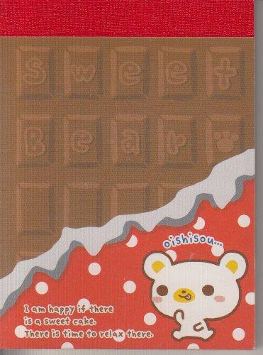 Crux Sweet Bear Chocolate Bar Mini Memo Pad