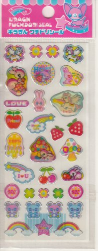 Lemon Co. Kiragin Colorful Animal World Mini Sticker Sheet