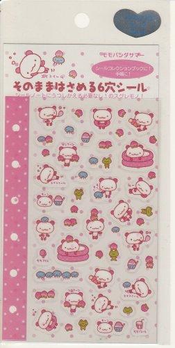 San-X Momo Panda Pink 6-Ring Schedule Sticker Sheet