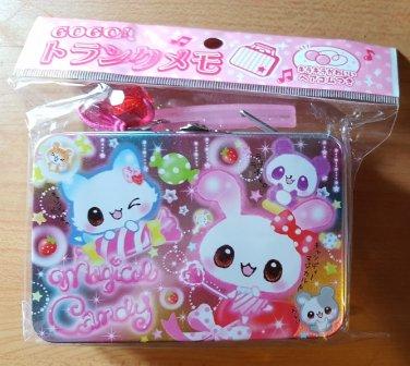 Q-Lia Magical Candy Animal Friends Memo Tin with Mini Memo Sheets
