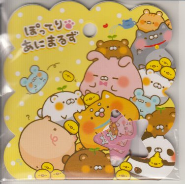 Q-Lia Kawaii Round Animal Plants Sticker Sack