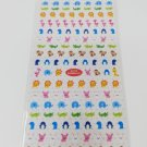 Mind Wave Mini Penguins, Crocodiles, Flamingos Sparkly Sticker Sheet