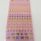 Kamio Happy Siro Siro Mini Cute Animals Sparkly Sticker Sheet