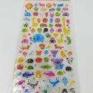 Q-Lia Puni Puni Zoo Animals Hard Epoxy Sticker Sheet
