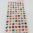 Kamio Kawaii Animal Heads Puffy Sticker Sheet