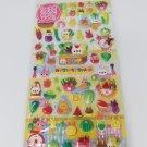 Kamio Bunny Garden Fruits and Vegetables Puffy Sticker Sheet